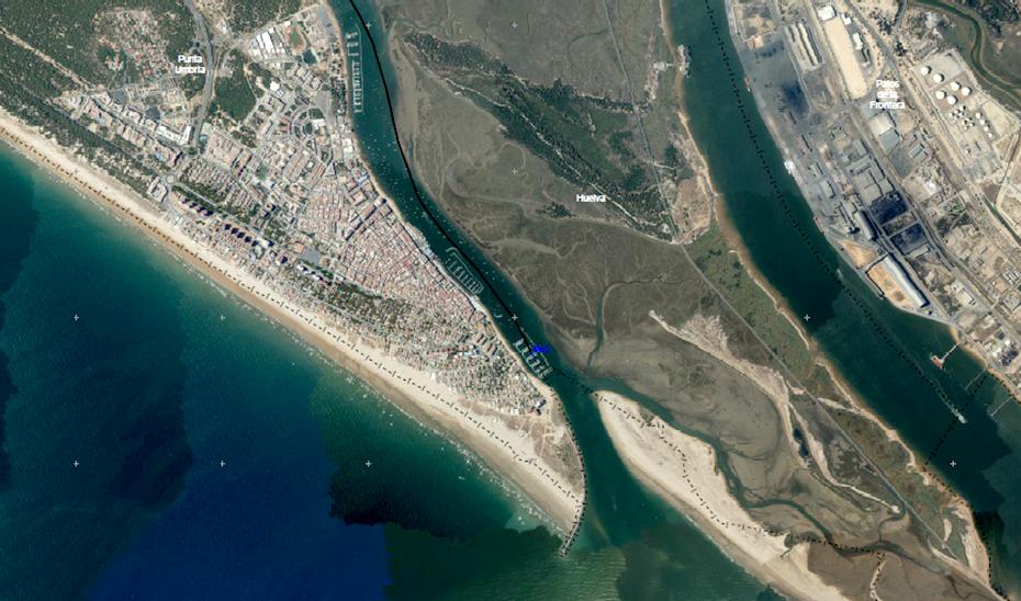 Una tierra de nadie entre Huelva y Punta Umbría