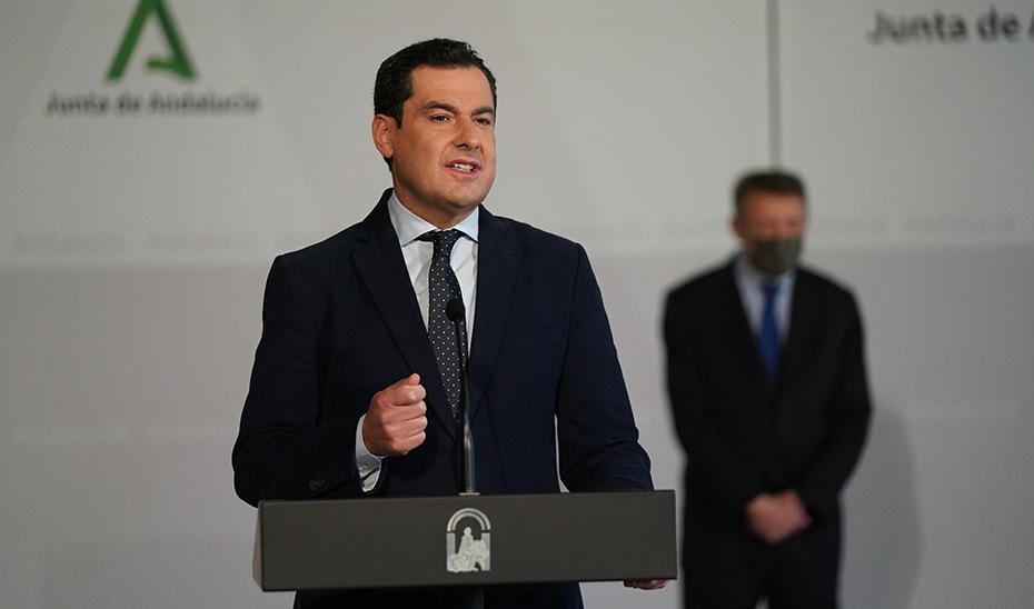 """Moreno: """"La recuperación de Andalucía no será posible sin tener en cuenta a los colectivos más vulnerables"""""""