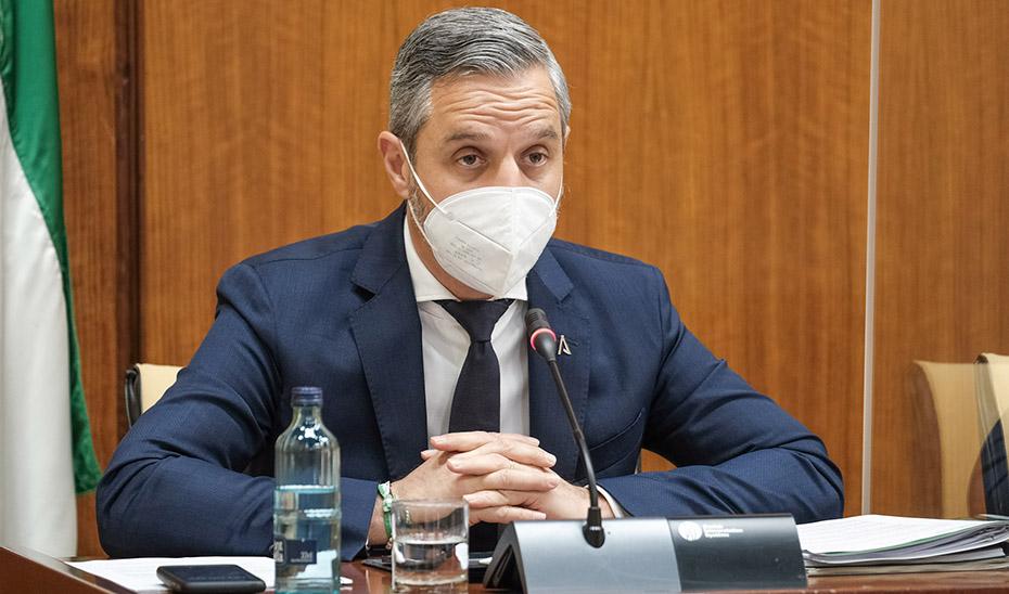 Comparecencia del consejero de Hacienda y Financiación Europea, Juan Bravo, en comisión parlamentaria.