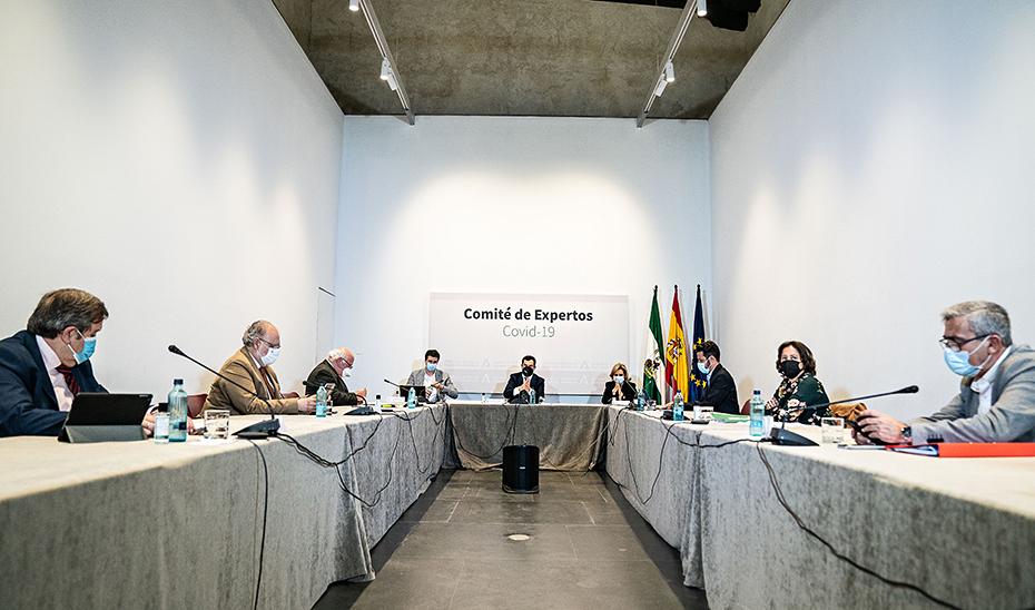 Un momento de la reunión, celebrada en San Temo, sede de la Presidencia del Gobierno andaluz.