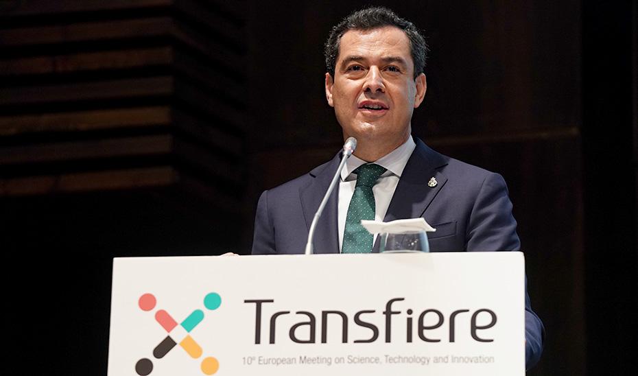 Intervención del presidente de la Junta en el Foro Andalucía Transfiere 2021