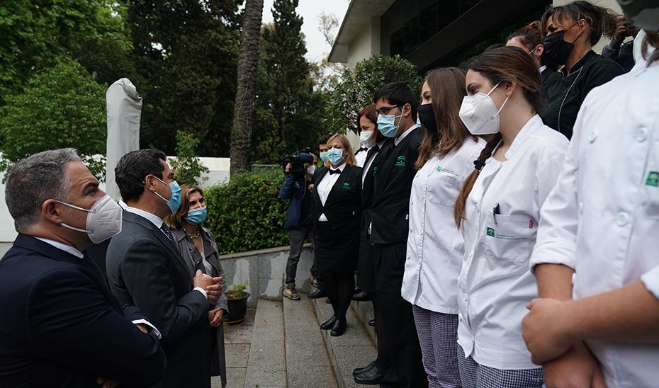 Intervención del presidente de la Junta en su visita a la Escuela de Hostelería 'La Cónsula'
