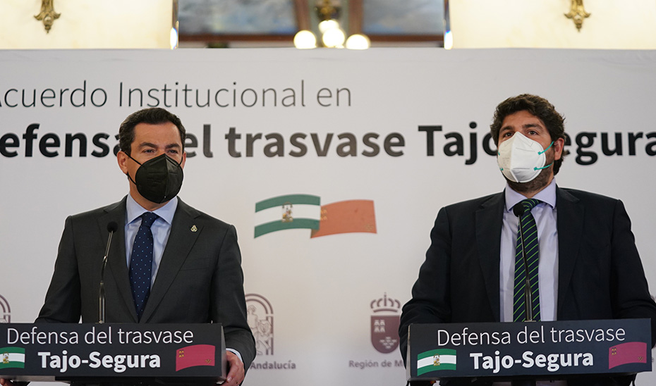 Intervención de López Miras tras la firma de la Declaración Institucional en Defensa del Trasvase Tajo-Segura
