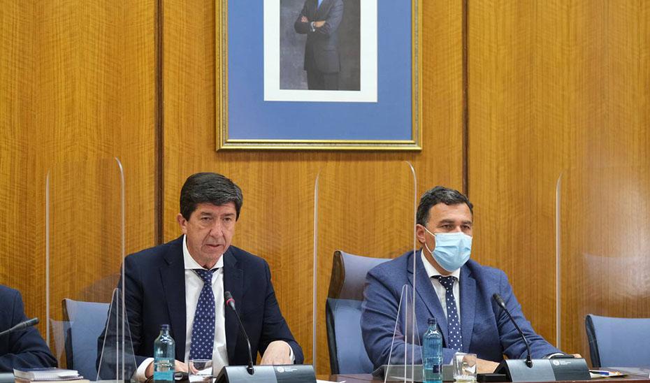 Juan Marín anuncia en el Parlamento la elaboración del reglamento pendiente de la Ley de Transparencia