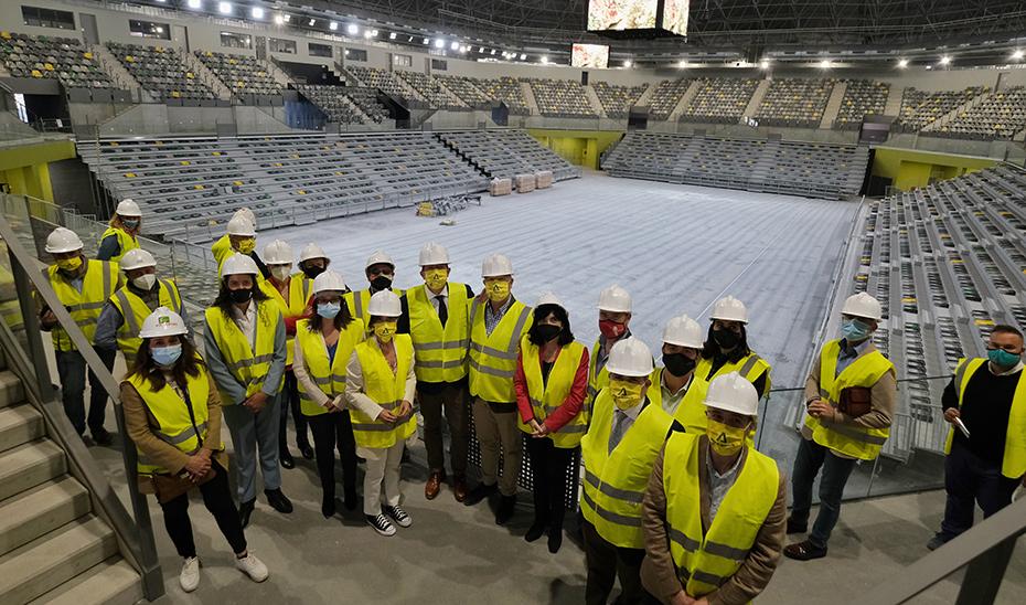 Interior del nuevo pabellón jiennense, con una inversión de 20,5 millones de euros.
