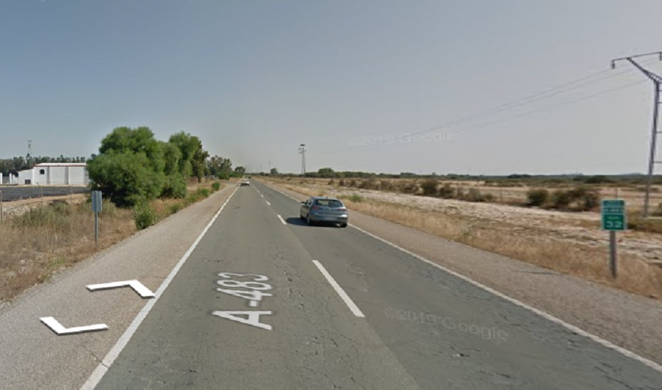 Punto de la A-483 donde ha ocurrido el accidente.