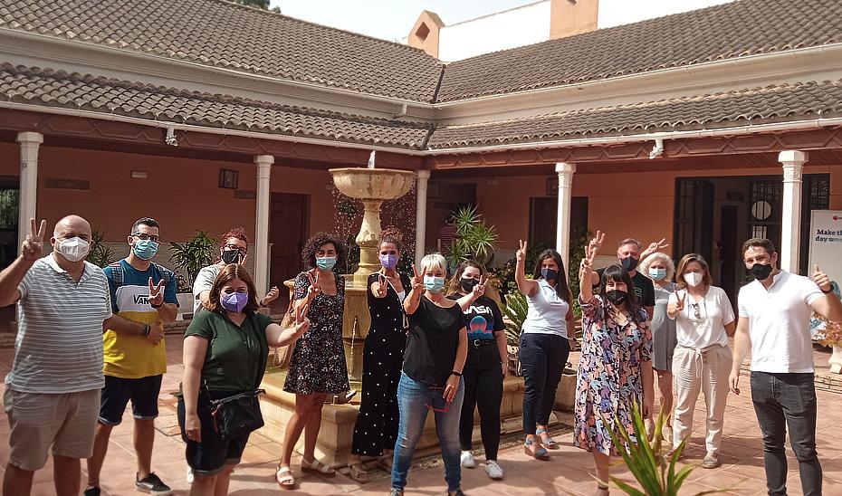 Participantes en la Lanzadera Conecta Empleo de Torremolinos.