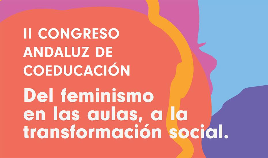 Detalle del cartel del II Congreso Andaluz de Coeducación que se celebrará en Málaga el 25 y 26 de octubre.