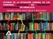 La situación Laboral de las personas egresadas en Enseñanzas Universitarias en Andalucía. Promociones 2016-2017 y 2015-2016