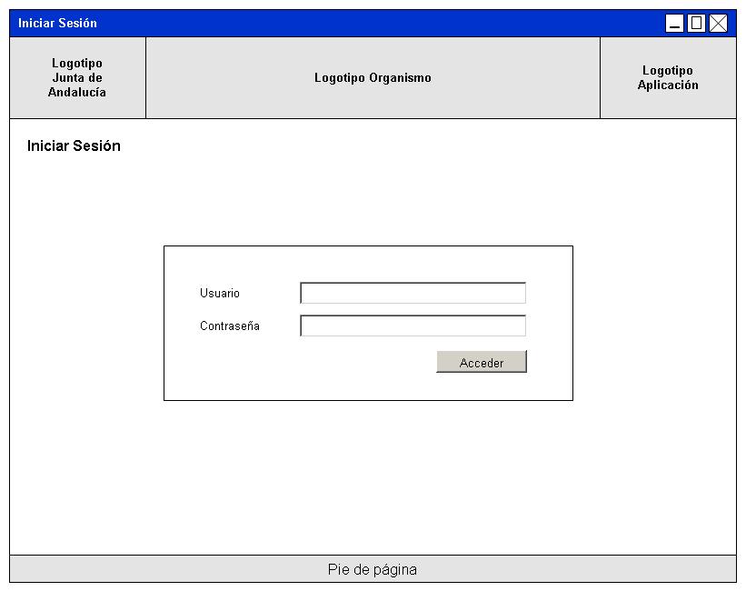 Prototipo de pantalla de login | Marco de Desarrollo de la Junta de ...