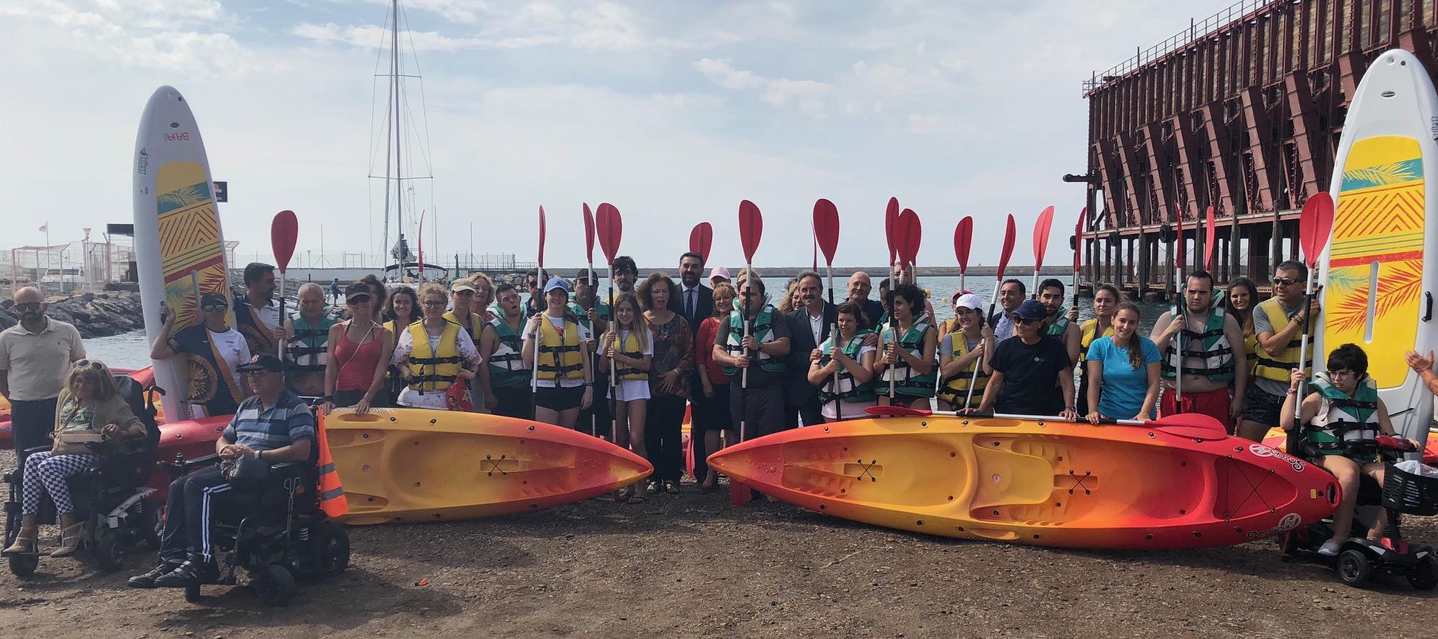 La Junta pone en marcha en Almería un proyecto piloto de deporte inclusivo en modalidades náuticas
