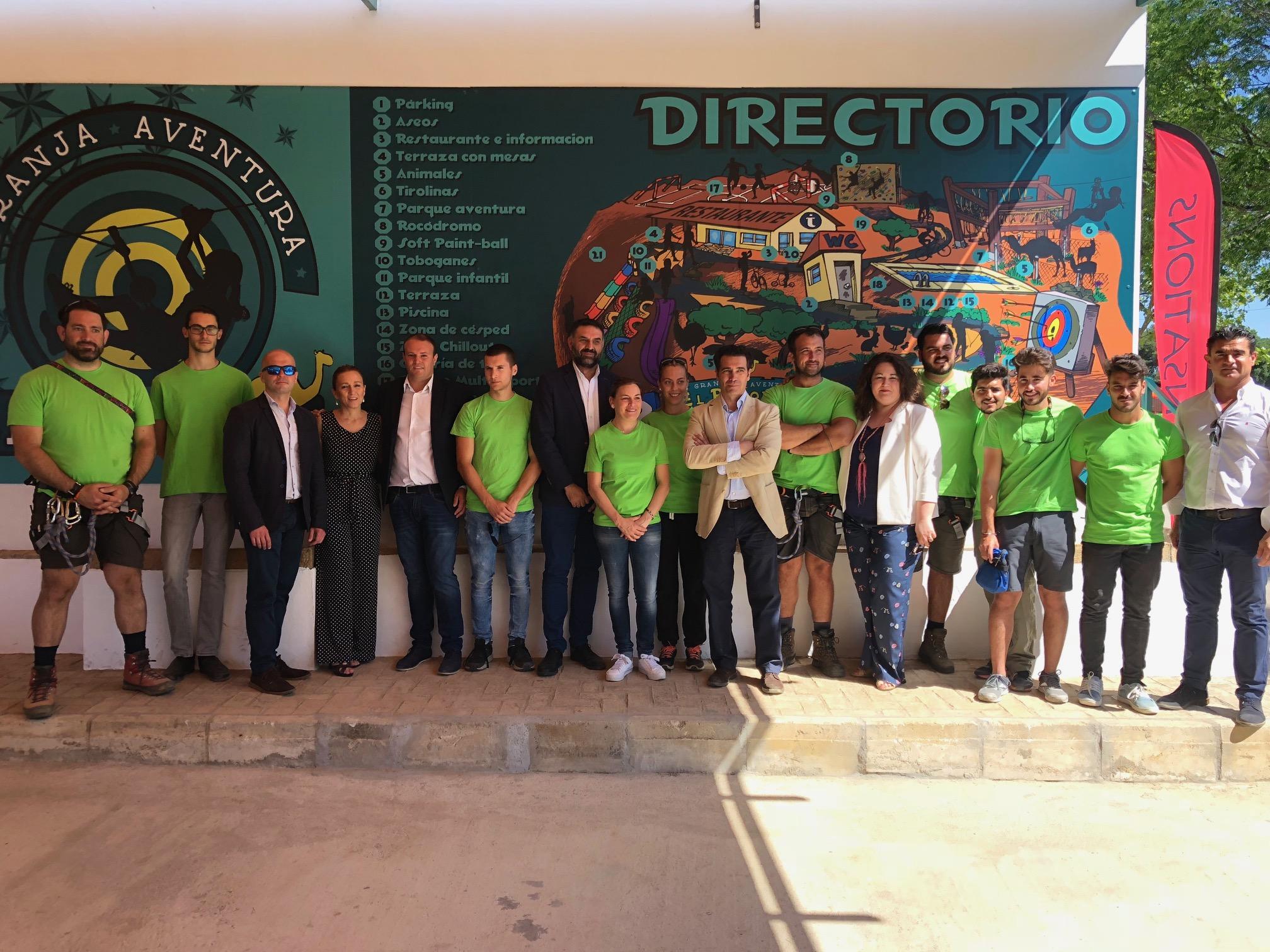 Fernández valora como refuerzo de la oferta de interior el Parque de Turismo Activo y Multiaventura de El Ronquillo