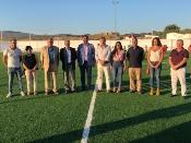 El Real de la Jara estrena nuevo campo de fútbol de césped artificial