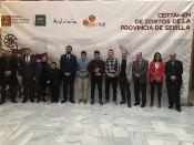 Bernabé Bulnes, Jonathan Martínez y Daniel Antúnez, galardonados con los premios del 'II Certamen de Cortos de la Provincia de Sevilla'
