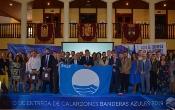 Marín apuesta por un turismo de sol y playa de calidad en la entrega de las Banderas Azules 2019
