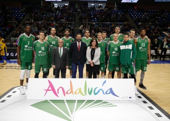 Francisco Javier Fernández destaca la promoción de Andalucía durante la Euroliga junto al Unicaja Baloncesto
