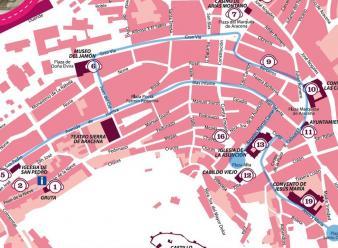 Ruta Turistica por el Centro historico de Aracena. Itinerario
