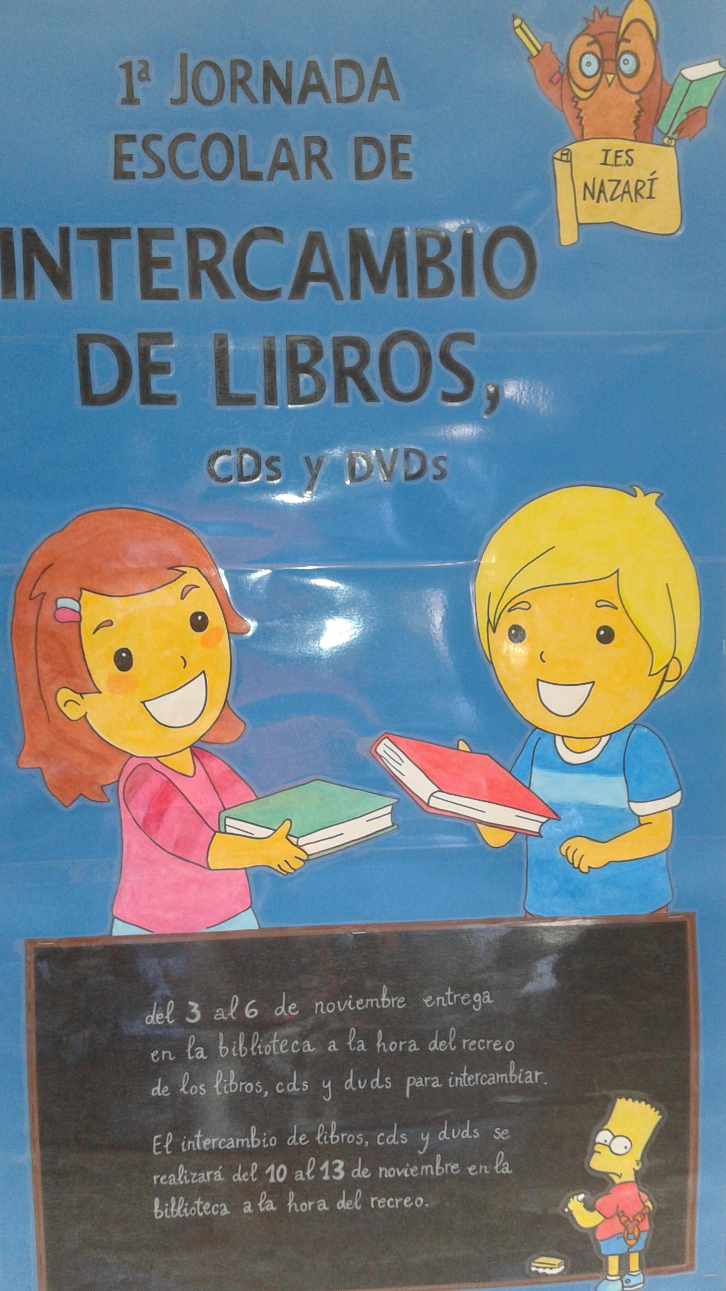 INTERCAMBIO DE LIBROS, CDs Y DVDs