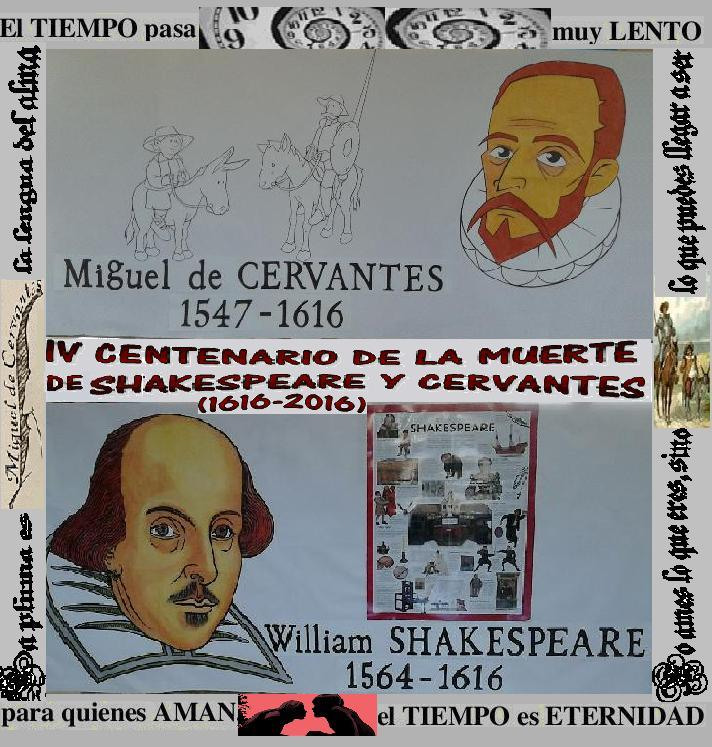 poster centenario de Sheskepeare y cervantes
