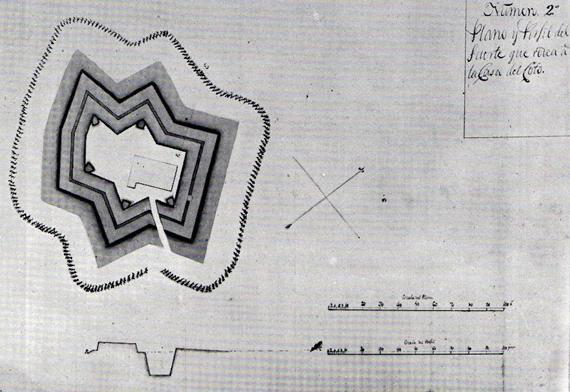 imagen 7 Detalle de lámina 618 en Calderón Quijano,  Cartografía militar y marítima de Cádiz, Sevilla, 1956
