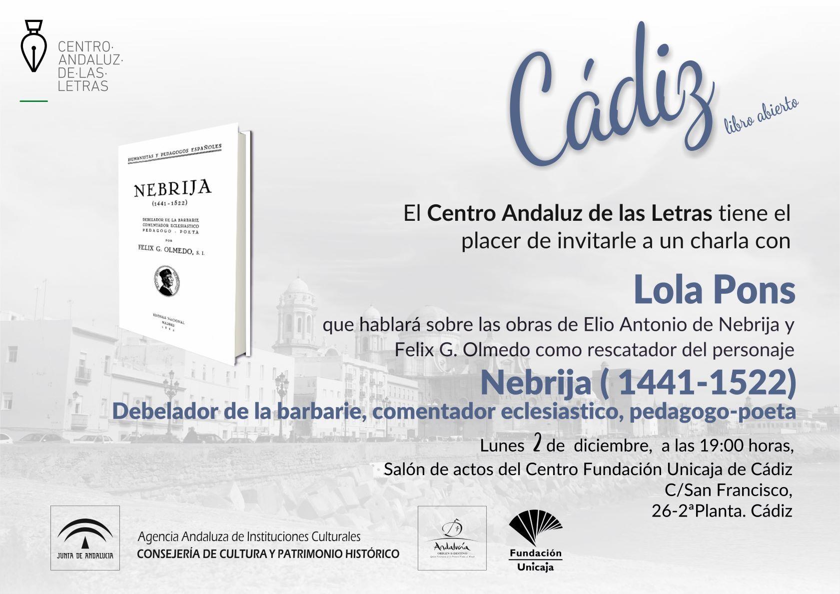 Sesión del ciclo 'Cádiz, Libro Abierto'