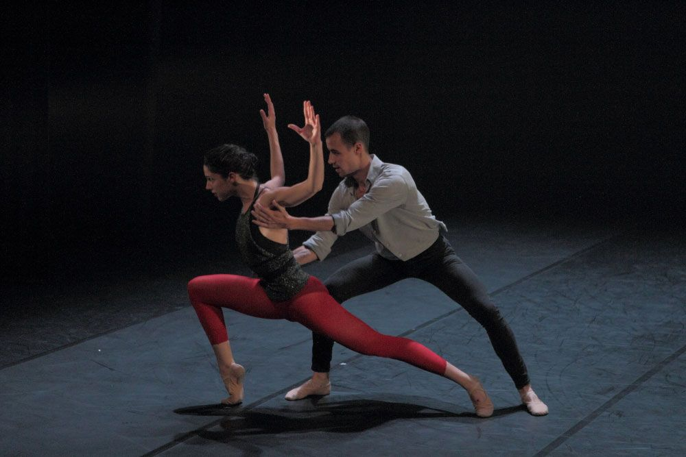 Taller 'Amalgama'. Pieza 'Punto de encuentro', coreografía de Carolina Armenta (fotografía: CIRAE. Coral González)