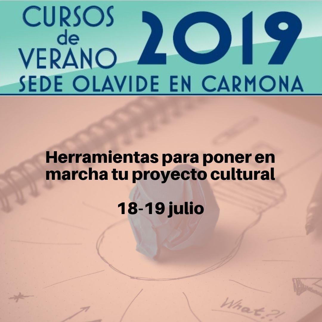 Cartel del curso de verano 'Herramientas para poner en marcha tu proyecto cultural'