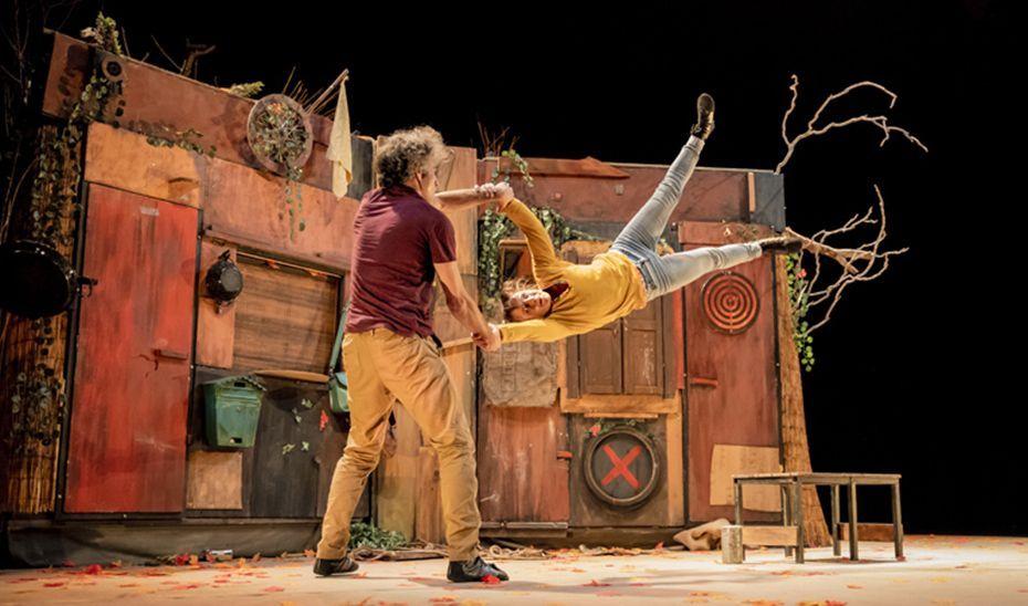 El montaje circense 'DistanS', de la compañía Vol'e Temps