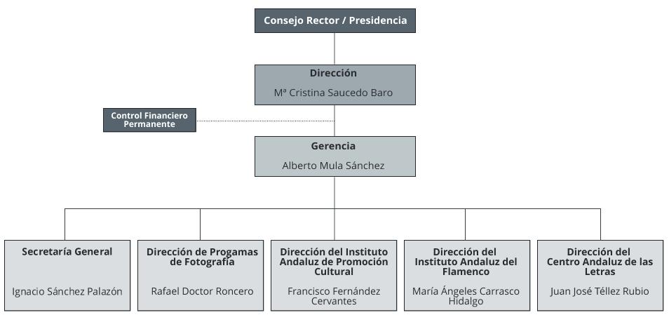 Organigrama de la Agencia Andaluza de Instituciones Culturales