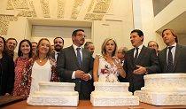 La consejera de Cultura, Patricia del Pozo, visitó el Museo del Sitio antes de la reunión del primer Consejo de Coordinación de la Ciudad Califal de Medina Azahara