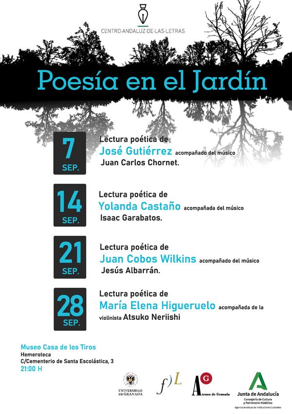 Cartel anunciador de 'Poesía en el jardín'