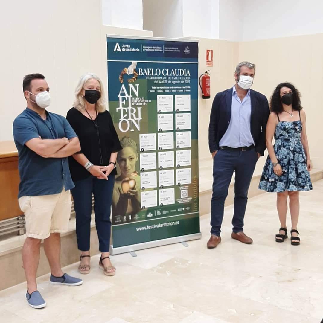 Presentación del festival de las artes escénicas de Andalucía 'Anfitrión', en Cádiz