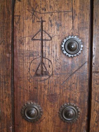 Sede del Instituto Andaluz de Flamenco. Detalle de la puerta.
