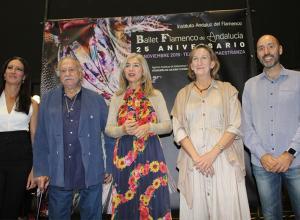 La consejera de Cultura, Patricia del Pozo, en el centro, junto a Úrsula López, Ricardo Pachón, Mar Sánchez Estrella y Javier Menéndez