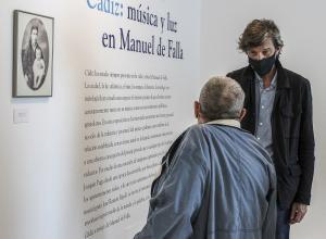 Joaquín Puga y José Ramón Ripoll. Exposición Música y Luz en Manuel de Falla ©Antonio Barce