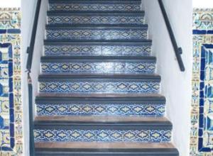 Sede del Instituto Andaluz de Flamenco. Vista detalle de la escalera.