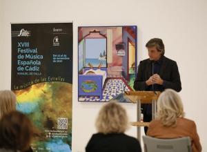 El Director del Festival de Música Española de Cádiz Manuel de Falla, Manuel Ferrand, explica la programación de la XVIII edición del Festival © Jesús Heredia