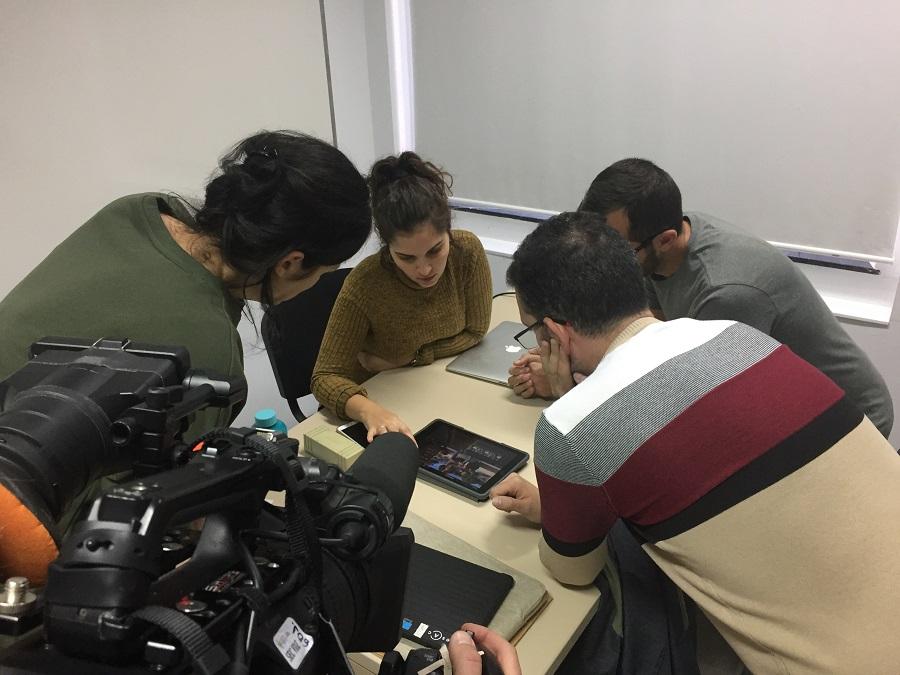 Alumnado de un taller de narrativa audiovisual