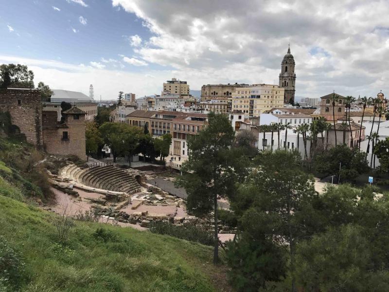 Enclave arqueológico Teatro romano de Málaga