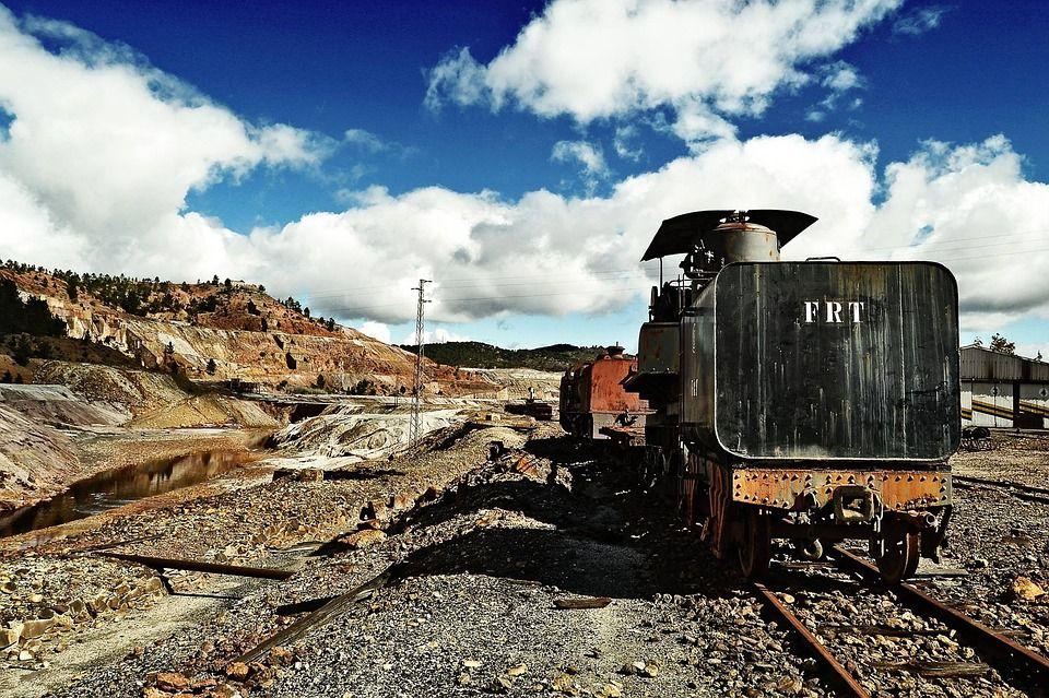 Vagón minero en Nerva