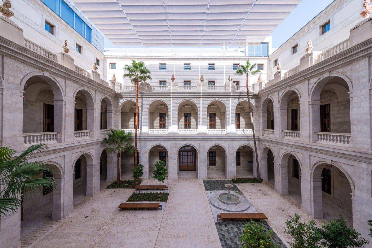 Patio del Museo de la Aduana, sede de MUMU 2020