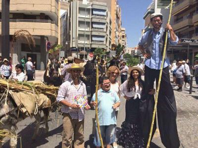 Desfile de burros Autor: Alberto Fernández Correo Fecha: 2014 Fuente: Mediateca del IAPH