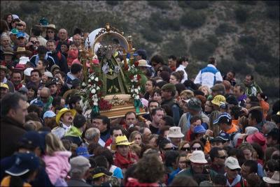 Llegada de la imagen a la ermita Autor: José Miguel Mejías del Río Fecha: 2009 Fuente: Instituto Andaluz del Patrimonio Histórico
