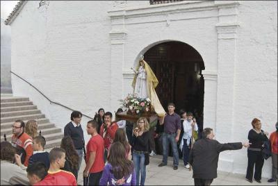 Inicio de la procesión de la Virgen Autor: Ana Belén García Muñoz Fuente: Instituto Andaluz del Patrimonio Histórico