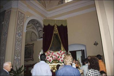 Virgen del Buensuceso antes de la procesión Autor: Isabel Aguilar Majarón Fecha: 2009 Fuente: Instituto Andaluz del Patrimonio Histórico