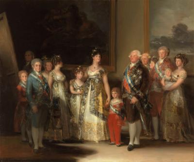 'La familia de Carlos IV', Francisco de Goya, Museo del Prado