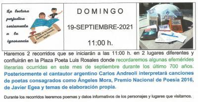 Para darle la bienvenida al otoño. El Club de los Libros Perdidos de Granada te invita a participar en esta celebración cultural por las calles de Granada
