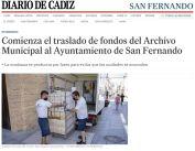 Comienza el traslado de fondos del Archivo Municipal al Ayuntamiento de San Fernando