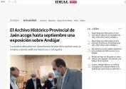 El Archivo Histórico Provincial de Jaén acoge hasta septiembre una exposición sobre Andújar