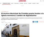 El Archivo Municipal de Córdoba presta fondos a la Iglesia mormona a cambio de digitalizarlos